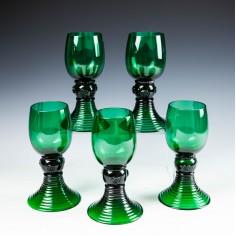A Set Roemer Wine Glasses  c1900