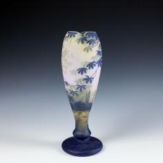 A DeVez Four Colour Cameo Landscape Glass Vase c1910