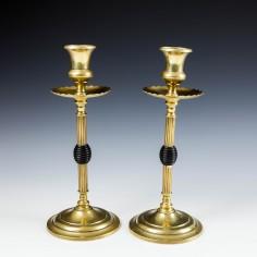 A Pair Brass Candlesticks c1915
