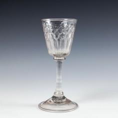 A Liegeois Wine Glass c1730