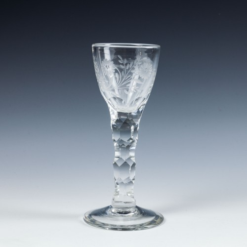 An 18th Century Style Engraved Wine Glass c1910