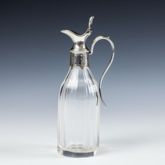 A Victorian Provincial Silver Lidded Condiment Bottle - c 1890