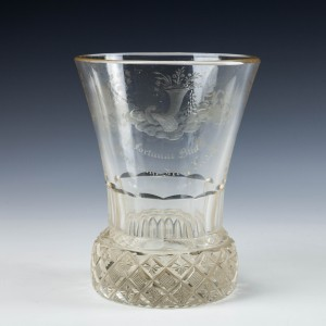 The Delights Of Bachus Engraved Firing Glass c1850