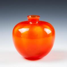 "Leerdam Orange glass ""Beatrix""  Vase A.D.Copier 1938"
