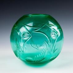Art Deco Cut Glass Bowl