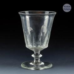 A Georgian Lipped Petal Moulded Bucket Bowl Rummer - c1820