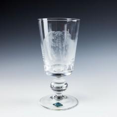 Royal Brierley Crystal - Signed Danek Piechowiak Enraved Goblet - c1980