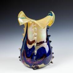 Rare Kralik kaleidoscope Oilspot Vase c1900 - Was £180