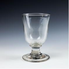 Large Heavyweight Victorian Glass Rummer c1850