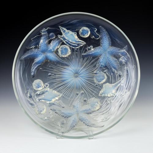 Verrerie D'Andelys Opalescent Glass Coupe c1940