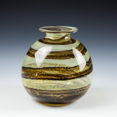 Earthtones Globe Vase Isle Of Wight Studio c1975