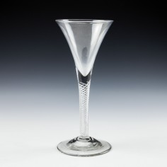 Tall Georgian Air Twist Wine Glass c1750