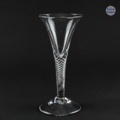 Georgian Multi Series Air Twist Wine Glass c1750