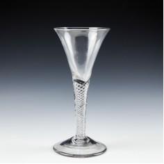 Georgian Air Twist Wine Glass c1750 A/F