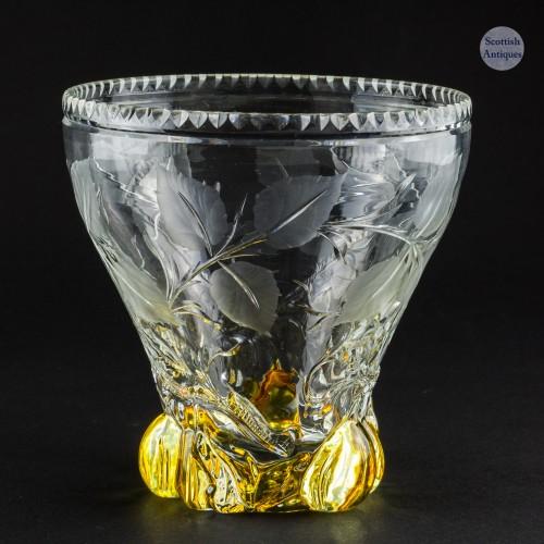 The Plum Tree - A Cut Glass Vase  c1905