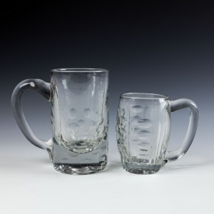 Two Victorian Glass Tankards c1870