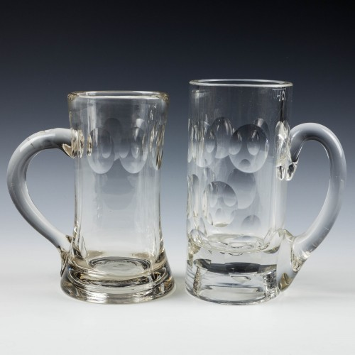 Two 19th Century Glass Tankards