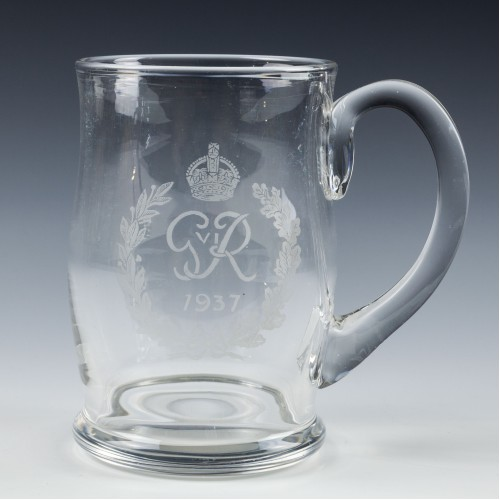 George VI Coronation Glass Tankard 1937