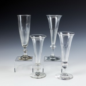 A Collection of Four Victorian Champagne Flutes