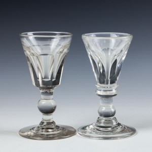 Two mid 19th Century Deceptive Toastmasters Glasses c1850