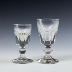 Two Deceptive Dram Glasses c1850