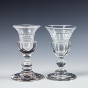 Two Deceptive Thistle Shaped Dram Glasses