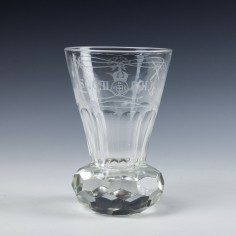 A Masonic Engraved Firing Glass