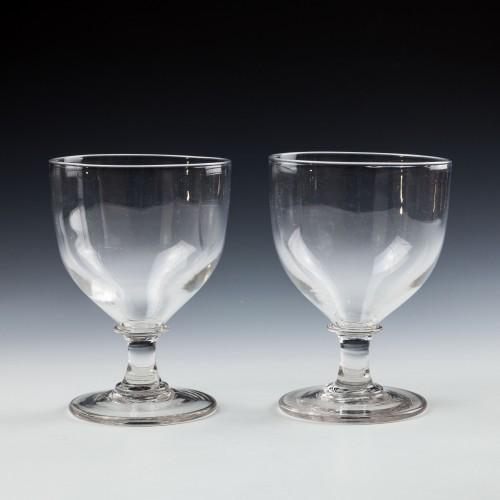 Two  Georgian Glass Rummers c1815