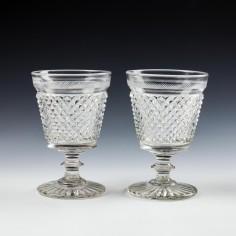 Pair Cut Bucket Bowl Rummers c1835