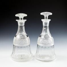Pair Victorian Spirit Decanters c1880
