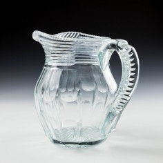 Georgian Style Cut Lead Crystal Water Jug c1930 Was £28