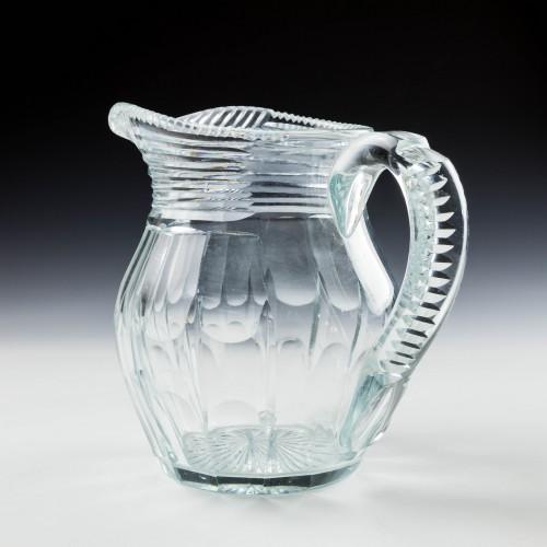 Georgian Style Cut Lead Crystal Water Jug c1930 Was £28
