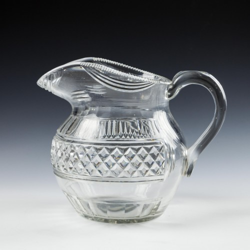 A Regency Glass Water Jug c1820