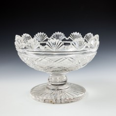A Fine Quality Regency Fan Cut Bowl c1830