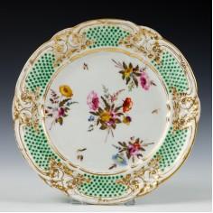 A Sevres Style Nantgarw Porcelain Plate c1815