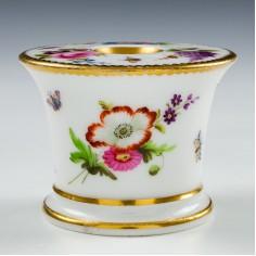 Paris Porcelain Floral Inkwell c1820