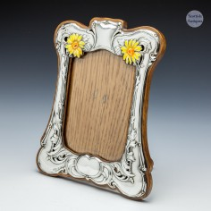 A Sterling Silver And Enamelled Picture Frame In The Art Nouveau 1902