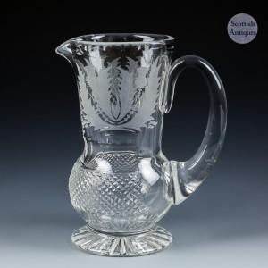 Edinburgh Crystal water Jug c1980