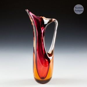 Murano Sommerso Glass Jug c1980