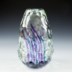 An Experimental  Caithness Knobbly Oban Vase c1970