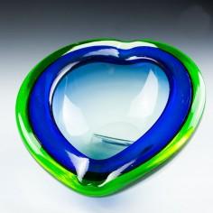 A Murano Geode Uranium Cased Glass Bowl c1950