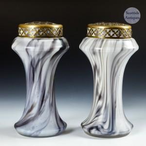 A Pair Of Czech Flower Vases c1930
