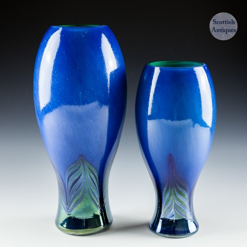 Two Caithness Salome Baluster Vases Designed by Phil Chaplain 1998-99