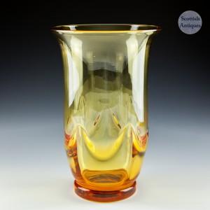 Whitefriars Swag Vase Pattern 9001 Designed by William Wilson in 1934