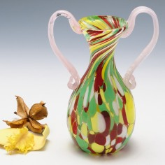 Fratelli Toso Spatter Glass Urn c1950