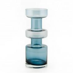 Riihimäen Lasi Oy Smokey Blue Vase by Tamara Aladin