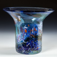 A George Elliott Studio Glass Vase c1980