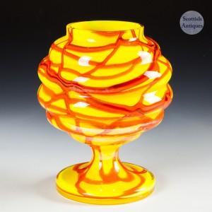 A Kralik Web Trail Glass Vase c1930