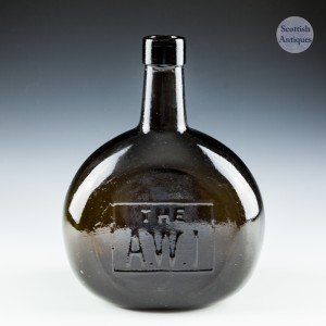 A Two Piece Victorian Bottle Marked The A.W.1 c1890