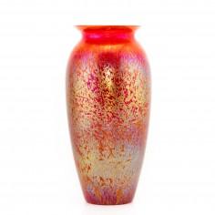 Signed Royal Brierley Studio Range Red Vase c1990